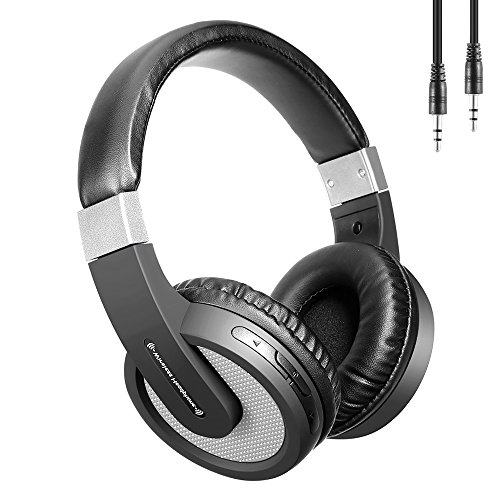 Clearchat Usb Headset - Wireless Headset, Stereo Sound, Over Ear Headphones Built-in Mic, 25 Hours Working Time Built in Mic Bluetooth Headset