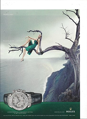 **PRINT AD** For Rolex Daytona Watches: Fearless luxury **PRINT AD**