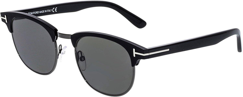 33540ac1fa39a Amazon.com  Tom Ford FT0623 02D Matte Black Laurent Retro Sunglasses  Polarised Lens Categor  Tom Ford  Clothing