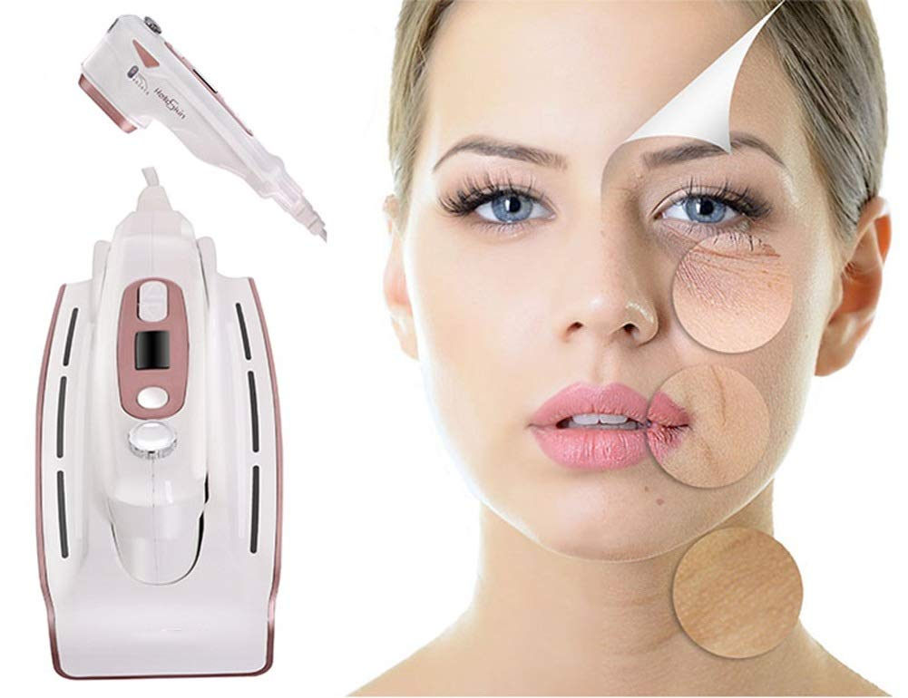 HIFU Mini 3 in 1 Face Lifting Beauty Instrument Wrinkle Removal Face Tight Whitening Anti-Aging Portable Handheld Equipment for Home Use by TOGARR
