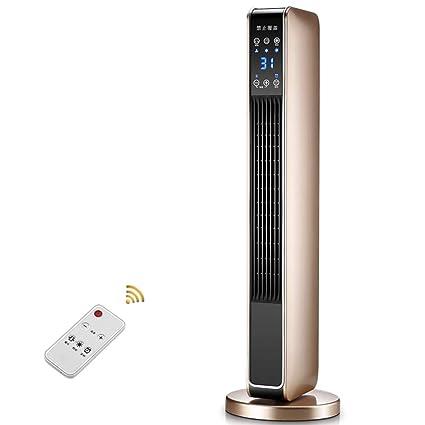 OR&DK Calentador de Torre, Cerámica PTC Oscilante Seguridad Calefactor con Ajustable Termostato Mando a Distancia