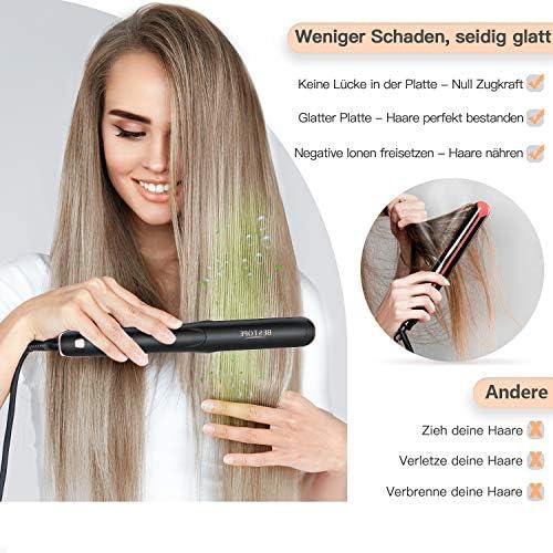 BESTOPE alisador de cabello y rizador 2 en 1 con placa de 25 mm plancha de cerámica para el cabello, 170 °C -230 °C digital, tiempo de calentamiento rápido, apagado automático [versión mejorada 2019]: Amazon.es: Belleza