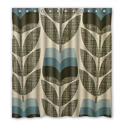 Orla Kiely Laminated Dalliy Custom SST Waterproof Polyester Shower Curtain Curtains 167 Cm X