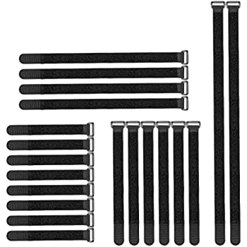 Lenink Cable Straps,Cable Ties,Reusable Fastening Cord Ties for Cord/Cable Management (20 Pack,Black)