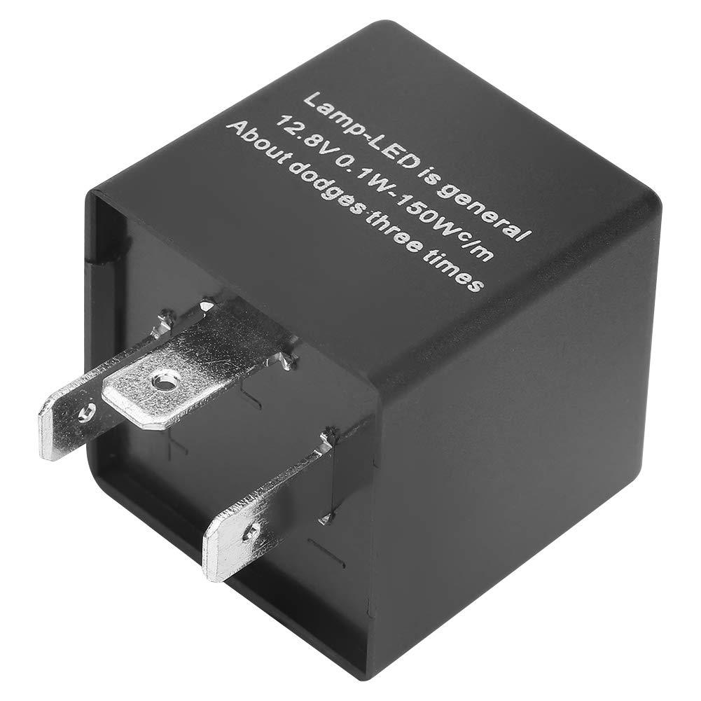 Akozon Rel/è Lampeggiatore LED Regolabile 3-Pin CF13 JL-02 LED Flasher Relay per Indicatori di Direzione Hyper Flash Fix