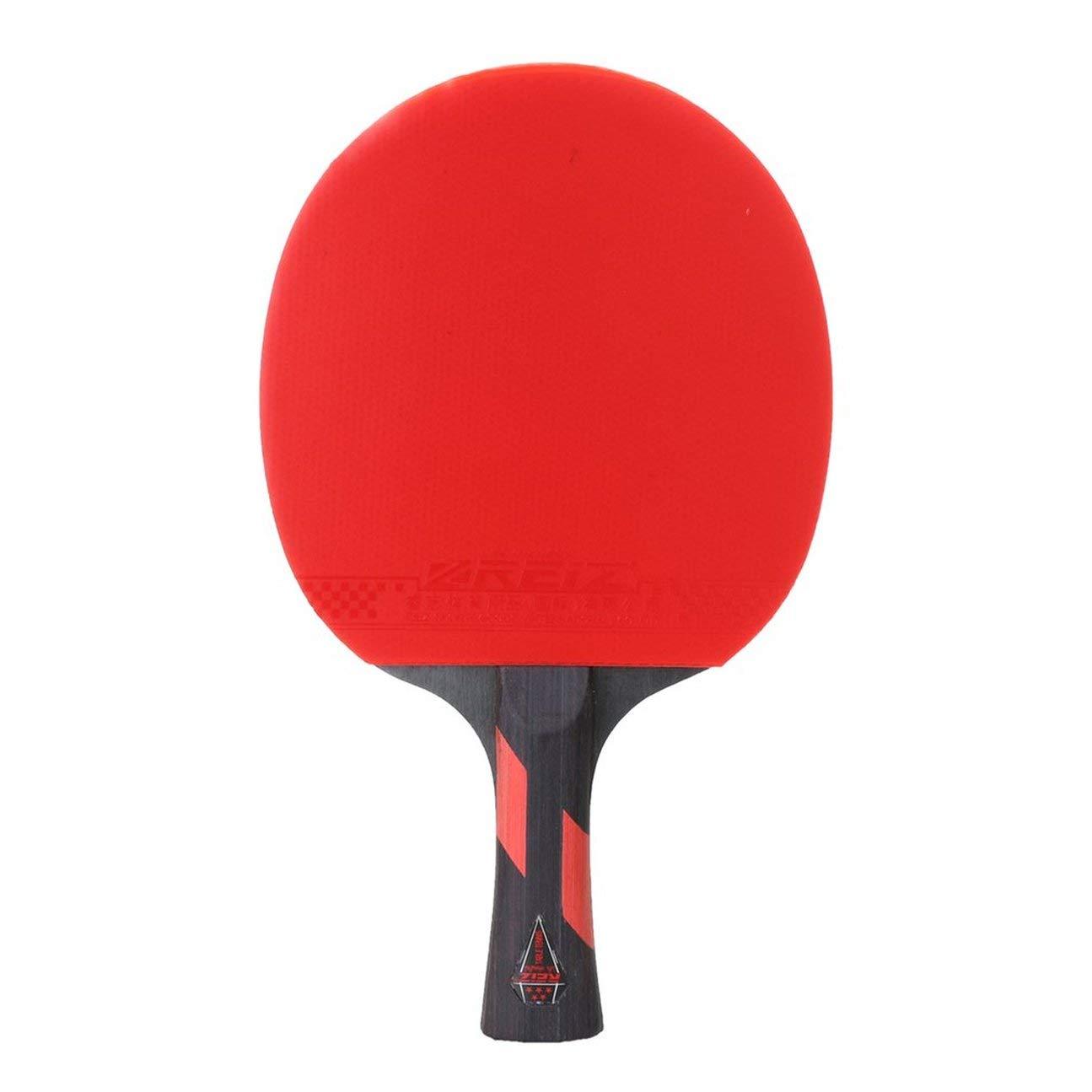Farbe: rot /& schwarz HIPENGYANBAIHU Reiz 5 Sterne Tischtennisschl/äger Kurzer oder Langer Griff Shake-Hand Ping Pong Paddle Match Trainingsschl/äger mit Tasche