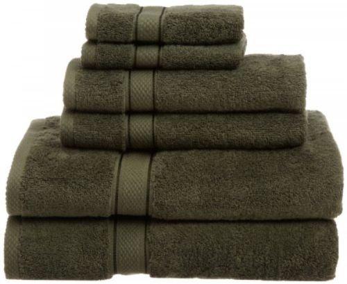 Pinzon Basics 100-Percent Egyptian Cotton 725-Gram 6-Piece Towel Set, Moss, New