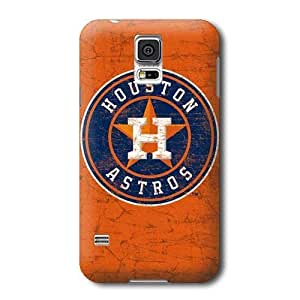 S5 Case, MLB - Houston Astros Distressed - Samsung Galaxy S5 Case - High Quality PC Case