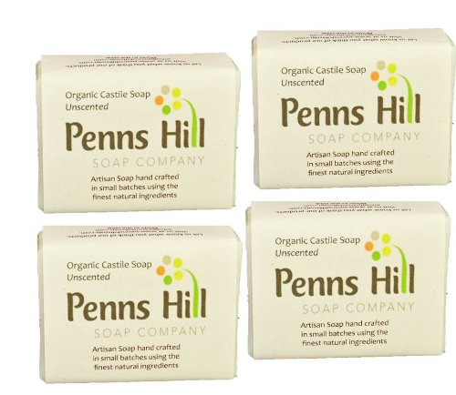 Organic Vegan Extra Virgin Olive Oil Unscented Bar Soap
