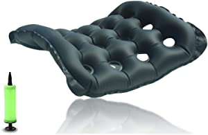 "Heartbeat Air Inflatable Seat Cushion, Portable Breathable Comfort Cushion Car Seat Office Chair Wheelchair Pad (18"" x 18"")"