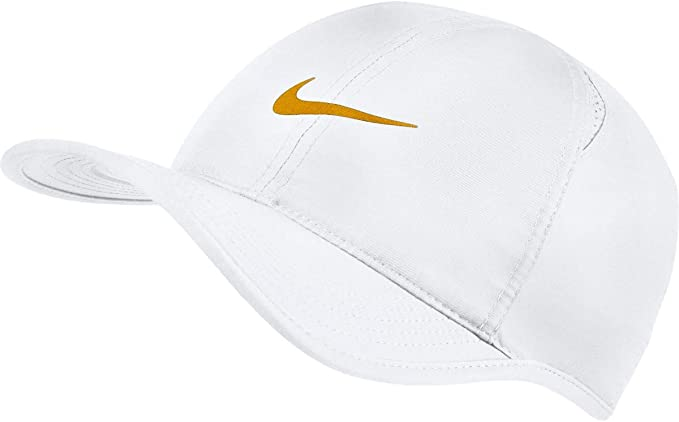 Nike Aerobill Feaher Light Gorra, Unisex Adulto, White/(Gold Leaf ...