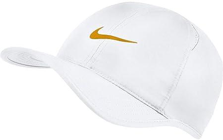 Nike Aerobill Feaher Light Gorra, Unisex Adulto, White/(Gold Leaf), Talla única