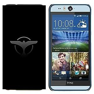 KLONGSHOP // Cubierta de piel con cierre a presión Shell trasero duro de goma Protección Caso - Cola de ballena - HTC Desire Eye M910x //