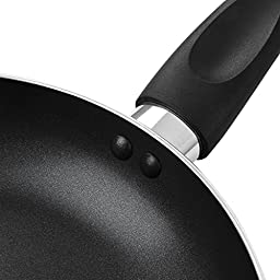 Aluminum Performance Nonstick Fry Pan Set - (3 Piece, 8-Inch, 10-Inch, 12-Inch) - Fry Pan / Frying pan Cookware Set,Dishwasher Safe PFOA Free,Black -by COOKSMARK
