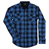 Burnside Men's Plaid Long Sleeve Flannel Button Down Shirt