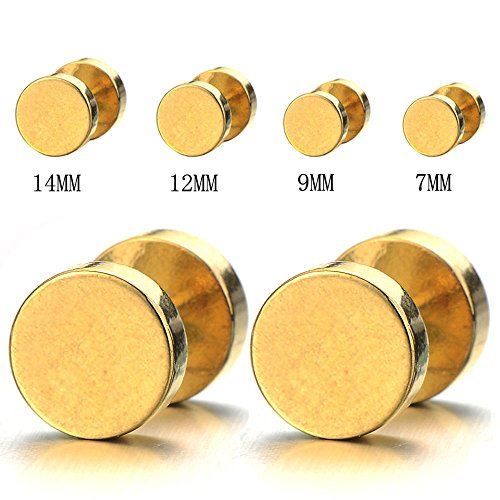 Earrings Stainless Cheater Gauges Illusion
