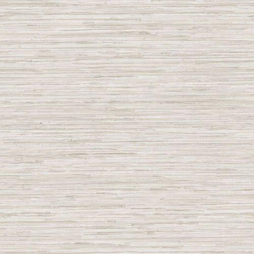 Manhattan Comfort TX34800 Faux Grasscloth Wallpaper, Grey
