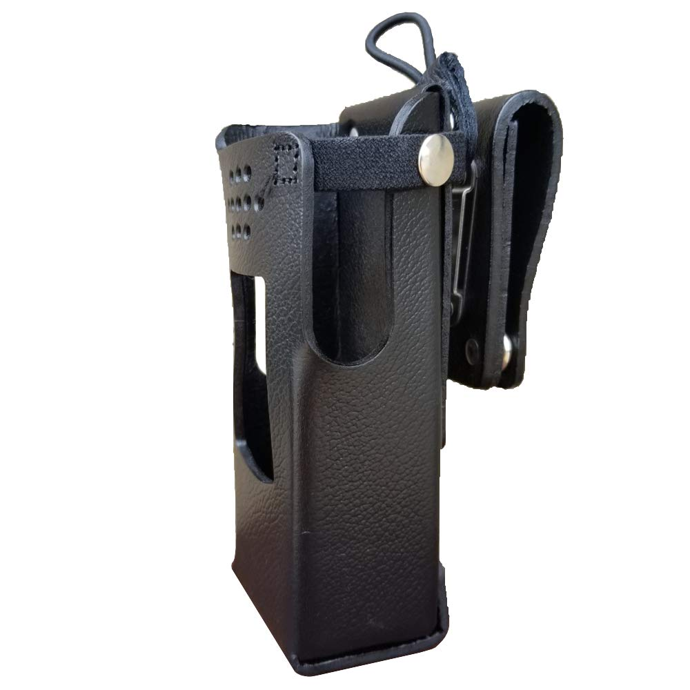 Case Guys GE7325-3AX Hard Leather Swivel Belt Loop Holster Case with Antenna Loop for Harris XL-200 Two Way Radios