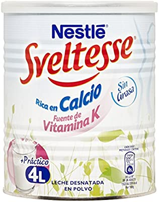 NESTLÉ Sveltesse - Leche desnatada en Polvo - Bote 400g: Amazon.es ...