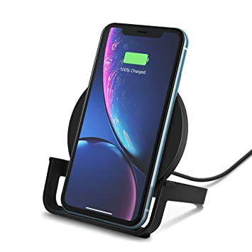 Belkin Boost Up 10 W - Cargador inalámbrico Qi para iPhone XS, XS Max, XR, X, 8, 8+/Samsung Galaxy S10, S10+, Note9 y otros, color negro