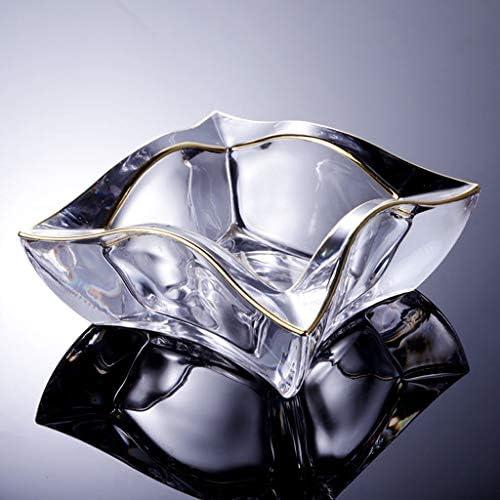 CQ オフィスリビングルームホテルのクリエイティブ人格灰皿トレンド多機能クリスタル透明ファッショングラス灰皿トランスルーセントグラス