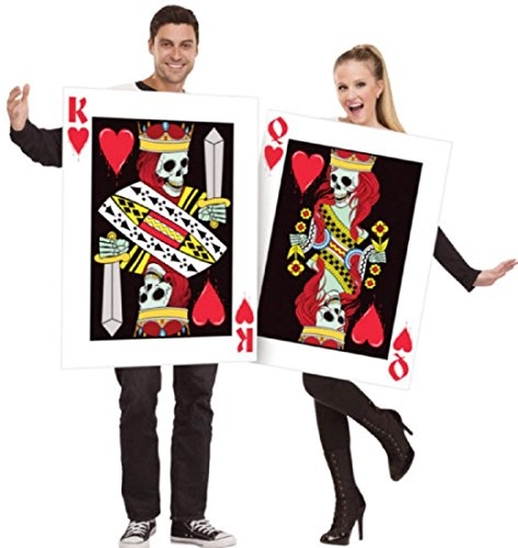 Fun World King & Queen of Hearts Cards (Set), Multi, Unisex-Men up to 6/200 lbs… Womne Size 4-14 -