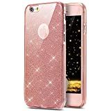 iPhone 7 Plus Case, PHEZEN [Full Body Coverage] Front and Back 360 Degree Protective Case Bling Glitter Sparkly Shockproof Ultra Thin TPU Silicone Gel Case Cover For iPhone 7 Plus 5.5