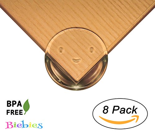 Biebies Premium Clear Corner Guards Set of 8 - Little Smiley Faces - Keep Children Safe, Protect From Injury Around the House.