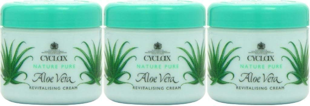 THREE PACKS of Cyclax Aloe Vera Revitalising Cream 300ml