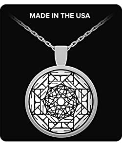 Mandala Love Necklace -White