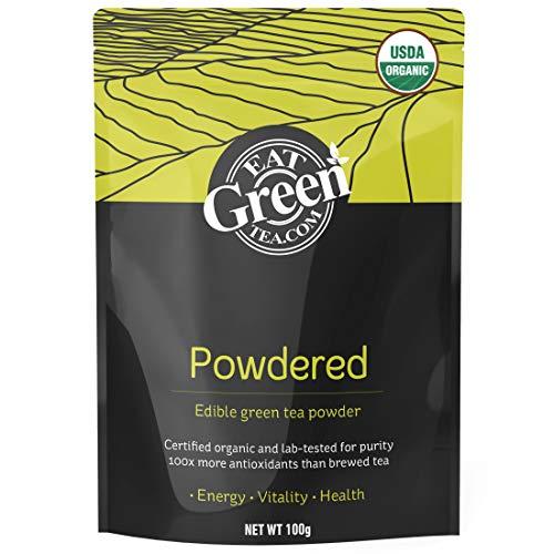 Organic Matcha Green Tea Powder - Antioxidant Edible Green Tea Powder - Use in Smoothies, Cooking and Baking - 100 grams ()