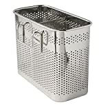 "Kitchen Utensils Chopsticks Holder Drying Rack Basket with Hooks 2 Divided Compartments Quality Stainless Steel Large L5.4"" X H4.3"" X W2.6"""