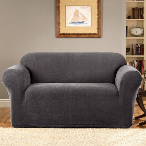 SureFit Stretch Metro 1-Piece - Sofa Slipcover  - Gray (SF39401) ()