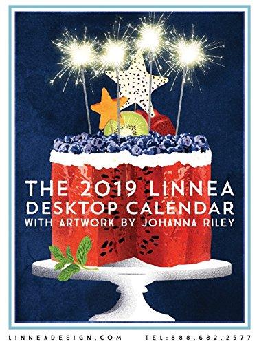 Linnea Design 2019 Desktop Calendar 5 X 7 Inches Art by Johanna Riley…