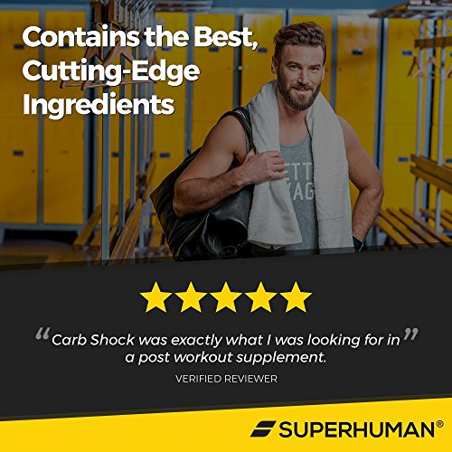 Ultimate Post Workout Recovery Supplement for Men & Women - Carb Shock - Gain Muscle Size, Density, and Strength - Recover Faster - Just Add To Your Protein Shake (16 Packets)