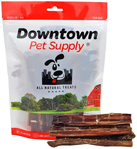 Downtown Pet Supply 6 Inch American Bully Sticks for Dogs Made in USA – Odorless Dog Dental Chew Treats, High in Protein, Alternative to Rawhides (6 Inch, 10 Pack)