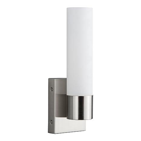 on sale b49d7 22f89 Perpetua Integrated LED Bathroom Wall Sconce | Brushed Nickel Vanity Light  Fixture LL-SC941-BN