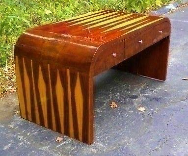 Art Deco Desk Rosewood - Brazilian Rosewood Art Deco Style Desk