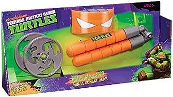 Teenage Mutant Ninja Turtles 14092033 - Accesorios de Combate de Michelangelo de Tortugas Ninja