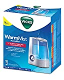 Vicks Warm Mist Humidifier, Vicks Humidifier for Bedrooms, Baby, Kids Rooms, 1 Gallon, Auto Shut-Off, Filter-Free, 24 Hrs of Moisturized Air, use with Vicks VapoSteam for Medicated Steam, Model V745A