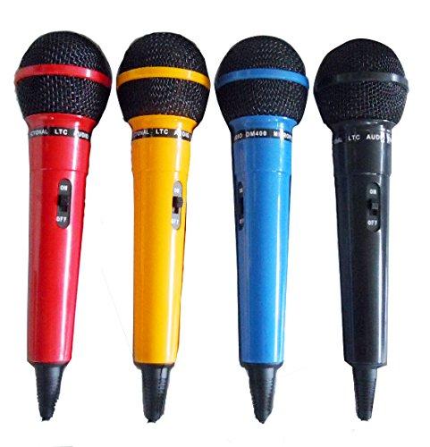 LTC AUDIO Set de micrófonos varios colores rojo azul amarillo negro