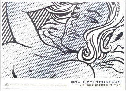 ポスター ロイ リキテンスタイン Seductive Girl 限定500枚 額装品 アルミ製ベーシックフレーム(ホワイト) B0031P536M ホワイト ホワイト