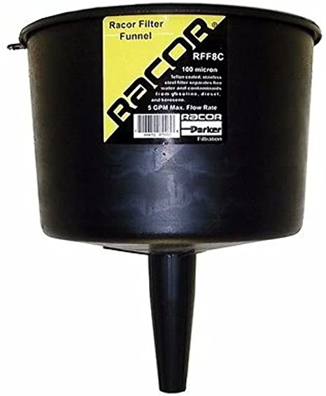 Racor Fuel Filter Funnel 5.0 GMP 127 Micron Heavy Duty RFF8C Boat MD