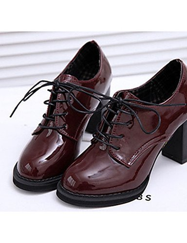 uk6 Casual Patentado de cn39 us8 uk6 burgundy us8 cn39 cn39 eu39 Negro uk6 Cuero Tacones mujer eu39 Bermell¨®n Zapatos eu39 black Tacones us8 Robusto Tac¨®n ZQ black 5wxfq0Zz5