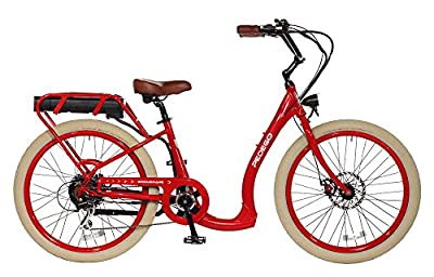 Pedego Boomerang Plus Red with Chreme Ballon Package 48V 15Ah