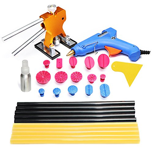 Price comparison product image Jmgist PDR Tools Paintless Dent Repair Tools Dent Removal Kit Auto Body Tools with 15pcs PDR Tabs Hot Glue Gun Sticks for Auto Body Repair