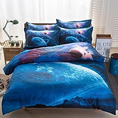3D Mysterious Boundless Galaxy Colorful Outer Space Bedding Sets Bedlinen Duvet/Quilt Cover Set 4pcs Queen Size
