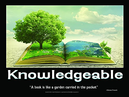 Knowledgeable Laminated Elementary Education Poster to Promote Reading