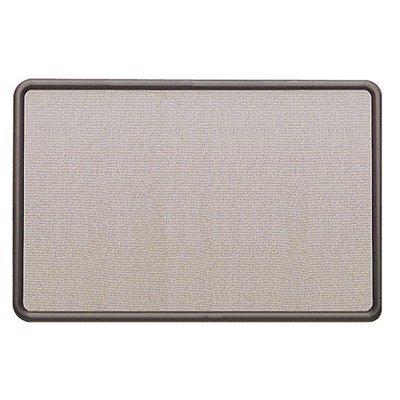 Contour Fabric Bulletin Board, 36 x 24, Gray, Plastic Graphite Frame, Sold as 1 Each - Gray Plastic Graphite Frame