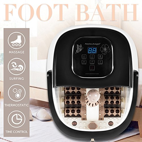 Natsukage All in One Luxurious Foot Spa Bath Massager Motorized Rolling Massage Heat Wave Digital Temperature Control LED Display Fast US Shipping (Type 3) by Natsukage